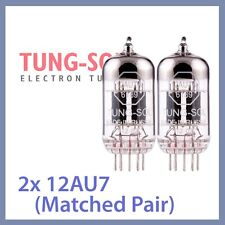 2x NEW Tung Sol 12AU7 Reissue TungSol Vacuum Tube ECC82, Matched Pair TESTED