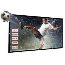 H150 Portable 150'' Foldable Projector Screen Diagonal 16:9 For Cinema Theater