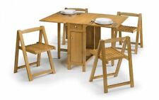 Julian Bowen Savoy Butterfly Dining Table & 4 Chairs - White or Light Oak Finish