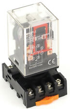 Ice Cube General Purpose Relay + Socket Choose Voltage, 8 Pin, 11 Pin, AC or DC