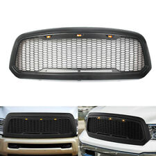 Raptor Style Front Mesh Grille Grill w/LED Light for Dodge Ram 1500 2013-2018