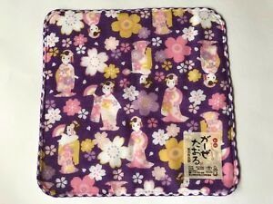 Japanese MAIKO - HAN mini Towel gauze towel Purple Free Shipping Made in JAPAN