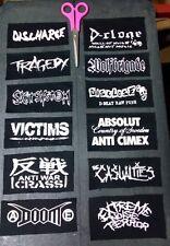 discharge disclose tragedy doom anti cimex d beat crust punk patch lot
