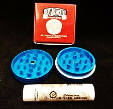 "HammerCraft Diamond Cut 2 Piece 2"" CNC Blue Grinder W/ Grinder Grease Free Ship"