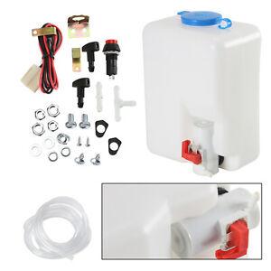 Universal 12v windscreen washer bottle kit motor pump jets 160186 classic