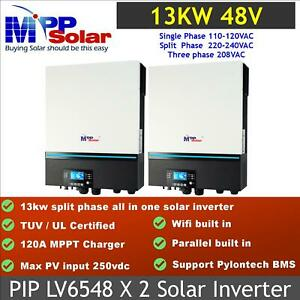 13kw split phase 110v 220v Solar inverter UL certified LV6548 * 2 pc