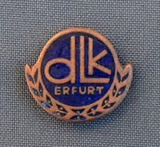 DLK Erfurt enamel German Germany vintage badge pin