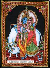 Radha Krishna Kisna Tapestry Wall Hanging Throw Poster Flag indian hippy Govind