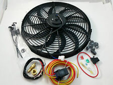 """16"""" Heavy Duty Electric Fan 3000 CFM  W/ 30 Amp Relay SBC BBC Ford Mopar Rat Rod"""