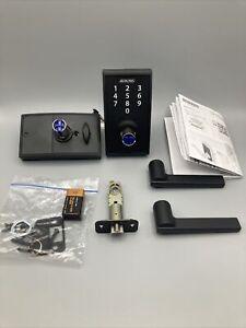 Schlage Touch Century Lock with Latitude Lever Matte Black FE695 CEN 622 LAT