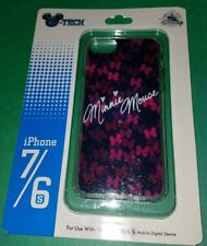 Disney Parks D-Tech Minnie Mouse Bows Pink Glttery iPhone 7/6/6S Cover NIP