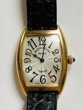 FRANCK MULLER Tonneau Curvex 1752 QZ K18YG Leather belt Quartz Ladies watch Used