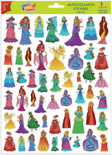 A4 Sticker Sheet Princesses for Scrapbooking & Cardmaking over 60 Stickers NEW