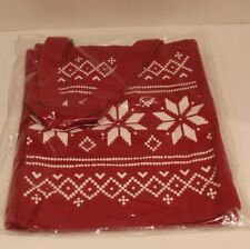 Christmas Themed Red & White Tote Bag 13 inches x 10 inches Snowflake Design