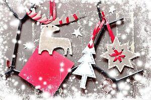 4x Tischsets / Platzmatten / Platzset abwaschbar / Motiv 'it's christmas'