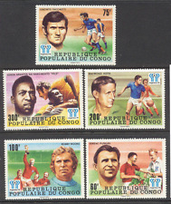 CONGO 1978 FOOTBALL/WC/sport/football/PELE 5 V Set (s170)