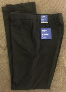Men's~Apt 9~Size 32x34~Black~Slim Fit~Premier Flex~Stretch Waist~Dress Pants~NEW