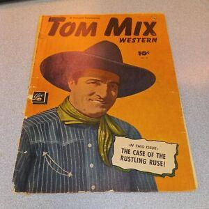Tom Mix western #29 fawcett comics 1950 Case Of The Rustling Ruse! Six gun hero