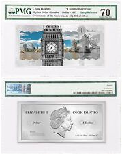 2017 Cook Skyline London Foil Note 5 g Silver PMG 70 Superb Gem Unc ER SKU48747