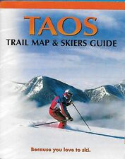 Taos New Mexico Trail Map And Skiers Guide Skiing Brochure 1999-2000 Ski Skiing
