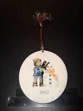 2002 Berta Hummel - Goebel - Christmas Snowman Ornament Nm - Mint Condition