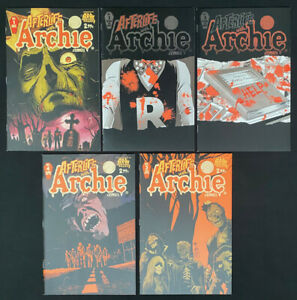 Afterlife with Archie #1-5 comic lot / run (Archie 2013) ~ Avg. 9.2 NM-