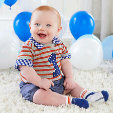 """My First Birthday"" Baby Aspen 3 Piece Dapper Dude Outfit"