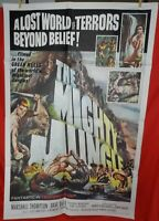 1 Vintage One Sheet Movie Poster for The Mighty Jungle, 1964, Marshall Thompson