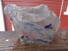 New listing Glass Rock Slag Cullet Clear Swirl 5.10 lb Rocks E78 Landscaping Aquarium