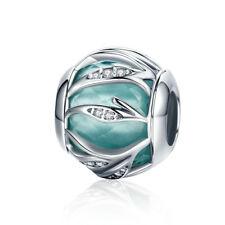 rubyca color de plata tibetana encanto cuentas brillantes ajuste encanto pulsera Europea Mix Color