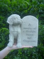 Pet Dog Memorial Garden Gravestone Rock Yard Stones Garden Headstone New Plaque