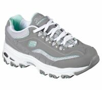 Gray Dlites Skechers shoes Women 11860 GYW Sport Comfort Casual Soft Memory Foam