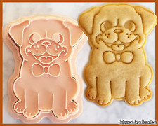 Pug Dog Cookie Cutter Sit Cute Biscuit Baking Supplies Tool Ceramics Pottery