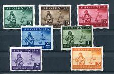 1944.ALBANIA.YVERT 312/18**.NUEVOS.SIN FIJASELLOS.(MNH).CAT. 45 €
