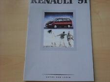 52131) Renault Alpine A610 - Espace J63 - R25 - R21 Prospekt 04/1991