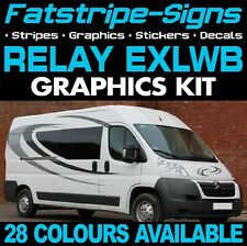 CITROEN RELAY L4 EXLWB GRAPHICS STICKERS STRIPES DECALS DAY VAN CAMPER MOTORHOME