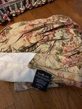 """RALPH LAUREN Guinevere Aragon Queen Bed Skirt Dust Ruffle 15"""" Drop"""