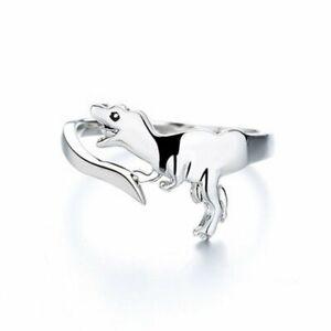 Fashion Cute Animal Dinosaur Open Ring Women Adjustable Wedding Jewelry Gift New