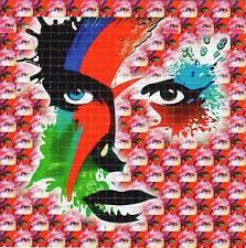 David Bowie / Ziggy Stardust BLOTTER ART sheet page tabs Acid Free Psychedelic