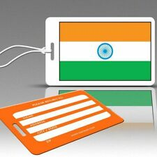 TagCrazy Luggage Tags, National Flag of India, Durable Plastic Loops-1 Pk