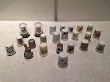 Collection of X 23 Thimbles including Bone China, Pewter's Some Of Them Rare