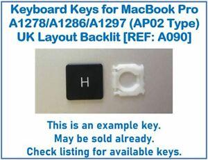 Keyboard Keys for Apple MacBook Pro UK A1278/A1286/A1297 (AP02 Type) [REF: A090]