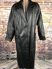 Avanti Ladies Full Length Leather Coat Size M