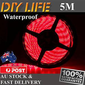 Waterproof 5M 12V Red 3528 SMD 300 LED Strips Led Strip Lights car boat Caravan