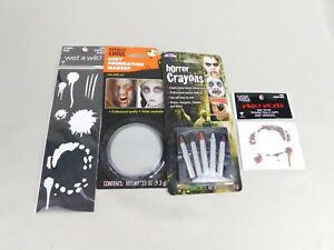 Zombie Halloween Costume Accessories - Makeup Face Tattoo and Stencil #7460