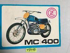 CZ motocross MC400 MC 400 73 prospectus catalogue publicité brochure moto cross
