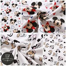 """Soft Brushed 100% Flannel Cotton, Mickey & Minnie Mouse with Friends, Disney 60"""""""