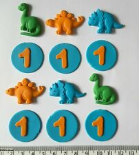 30 Dinosaur & discs cupcake toppers birthday party boys celebrate decorations