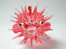 """""""Red Puffer Fish """" MINIATURE HOME COLLECTION HAND BLOWN GLASS ANIMAL FIGURINE"""