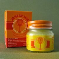 Thai Balm Golden Cup Muscle Pain Massage Headache Ointment Relief Vertigo Nasal